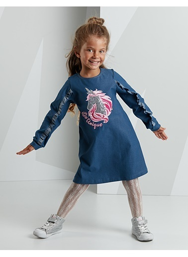 Mushi Elbise Mavi